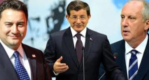 Babacan, Davutoğlu, İnce anketi: Seçime girseler yüzde kaç oy alıyorlar?