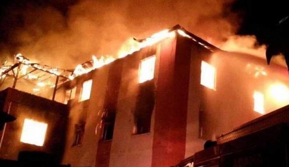 Öğrenci yurdunda yangın: Çok sayıda ölü var