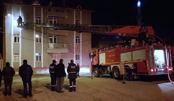 Kütahya'da öğrenci yurdunda yangın çıktı