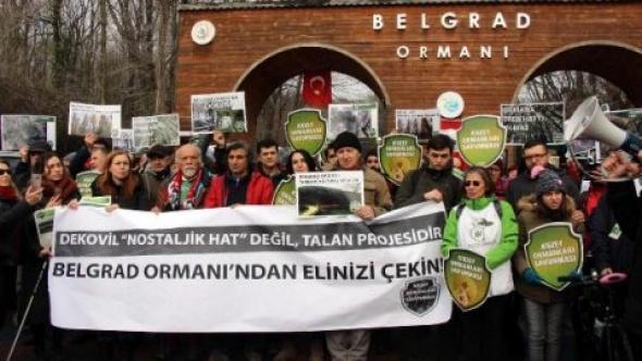 Belgrad Ormanı için yürüdüler