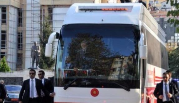 Erdoğan'ın konvoyunda kaza meydana geldi