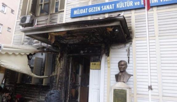 Müjdat Gezen Sanat Merkezi'nin kundaklanmasıyla ilgili bir kişi gözaltına alındı