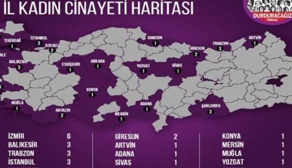 Ocak'ta 38 kadın öldürüldü