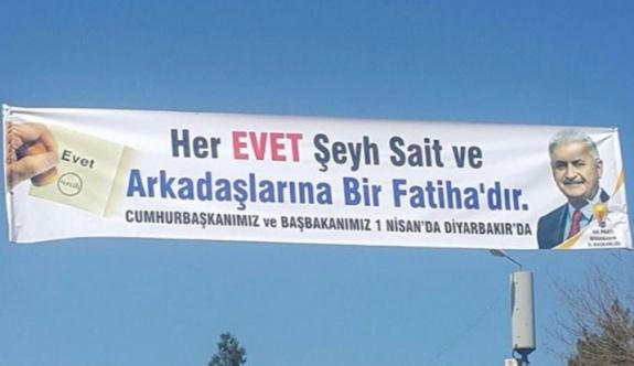 AK Parti'den 'evet Şeyh Sait'e Fatiha' pankartı