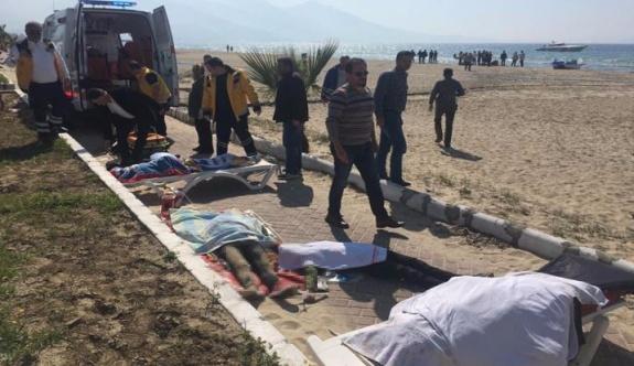 Kuşadası'nda mülteci botu battı