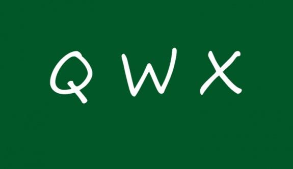 W-X-Q harfleri müfredata alındı