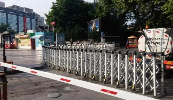 CHP'nin 'adalet yürüyüşü' başlatacağı Güvenpark bariyerle kapatıldı
