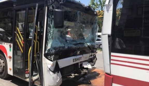Halk otobüsleri çarpıştı: Yaralılar var