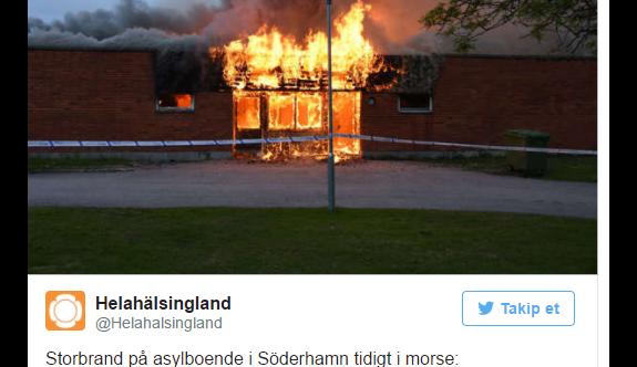 İsveç'te sığınmacıların kaldığı yurt yandı