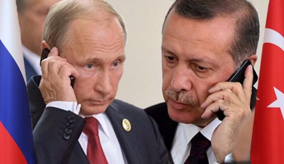 Putin ve Erdoğan arasında telefon görüşmesi