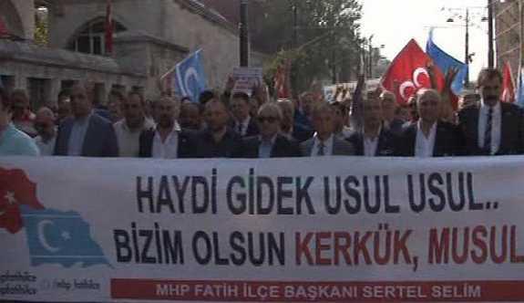 MHP'den Kerkük yürüyüşü: 'Haydi gidek usul usul, bizim olsun Kerkük, Musul'