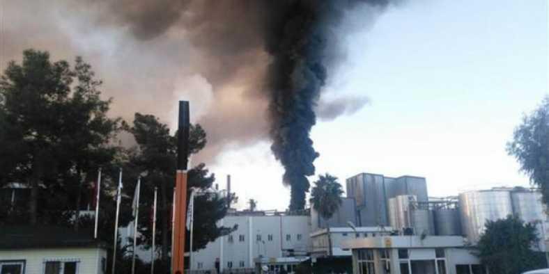 Adana'da yağ fabrikasında yangın