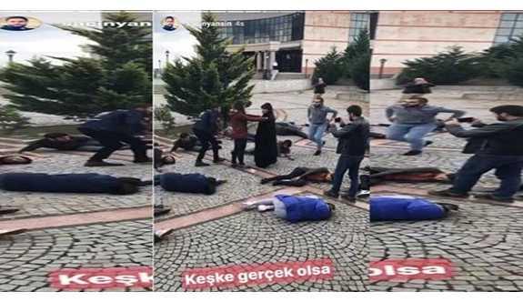 """DHA muhabiri, 10 Ekim katliamı canlandırmasına """"Keşke gerçek olsa"""" dedi"""