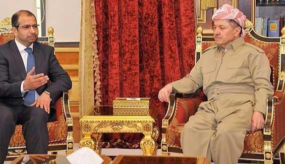 Mesud Barzani, Irak Meclis Başkanı ile bir araya geldi