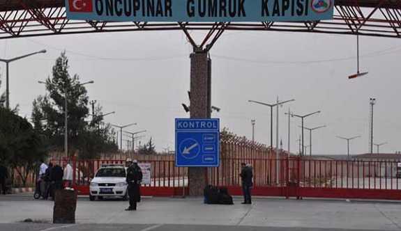 Öncüpınar sınır kapısı kapatıldı.