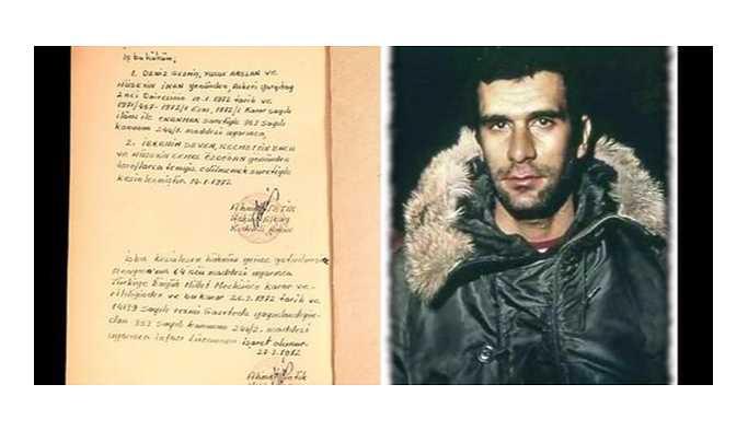 Deniz Gezmiş'in idam hükmü 45 bin 500 liraya satıldı!