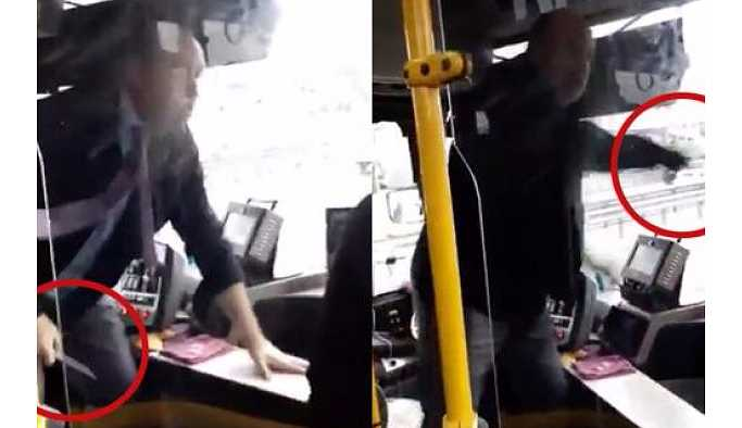 İETT şoförü yolculara bıçak çekti