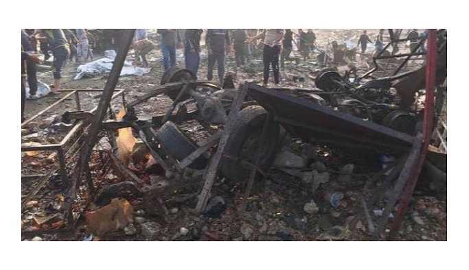 Kerkük pazar yerinde bombalı saldırı meydana geldi
