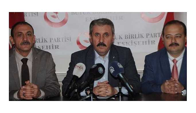 Mustafa Destici'den seçim barajı çağrısı