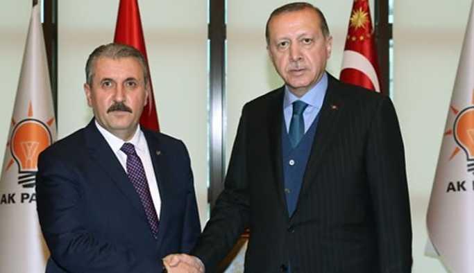 Erdoğan, BBP Genel Başkanı Destici ile görüştü.