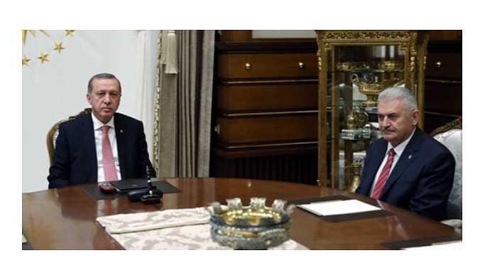 Erdoğan ile Başbakan Yıldırım'ın görüşmesi sona erdi
