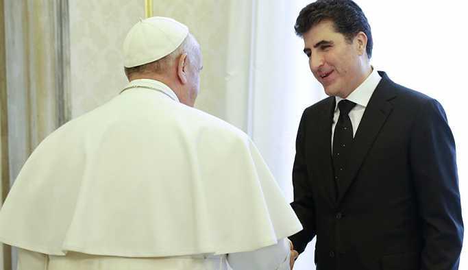Barzani'den Papa Francis'e, Bağdat'la ilişkilerin düzelmesinde rol oynama talebi