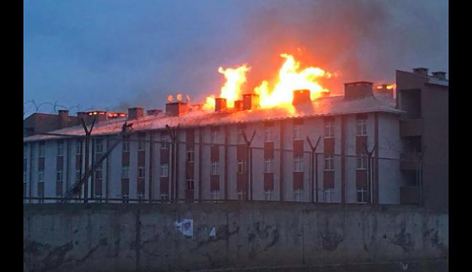 Ağrı'da Tugay Komutanlığı'nın binasında yangın