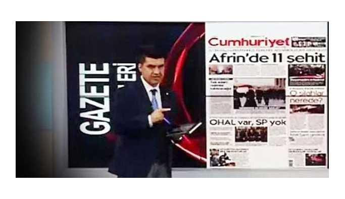 Cumhuriyet'ten Akit TV spikeri hakkında suç duyurusu