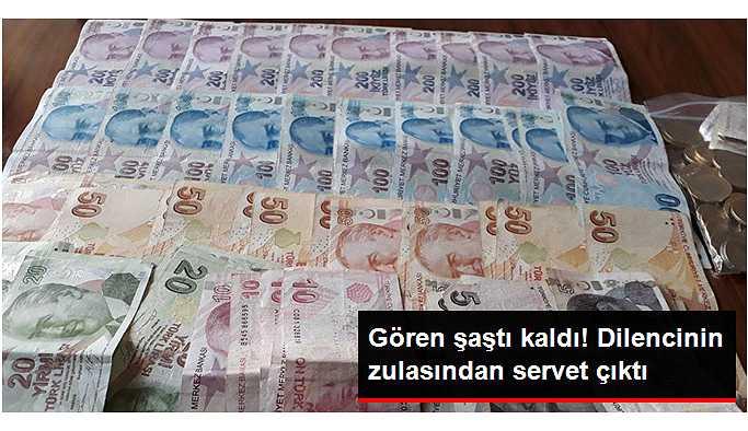 Dilencinin Poşetinden 6 Bin 210 Lira Çıktı