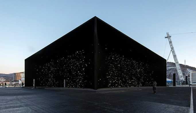 Güney Kore'de dünyanın en siyah binası inşa edildi