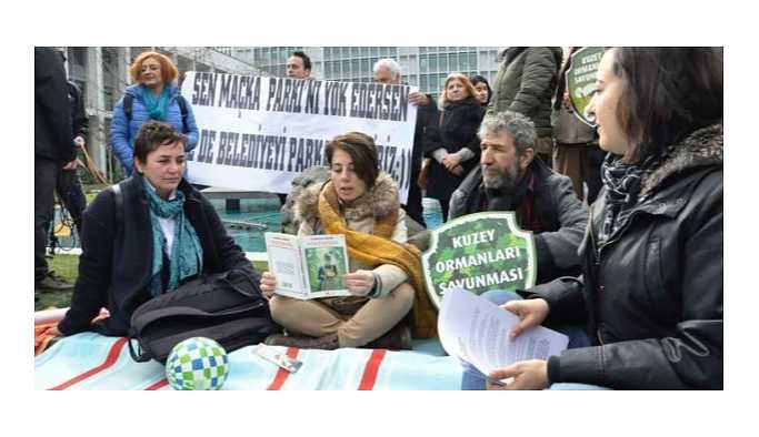İBB önünde Maçka Parkı eylemi