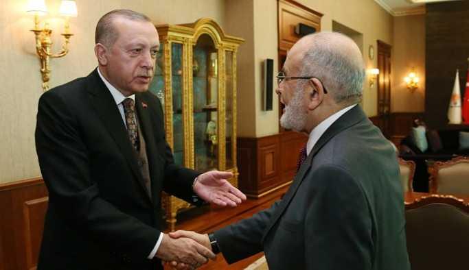 SP Lideri Karamollaoğlu Erdoğan'la görüştü