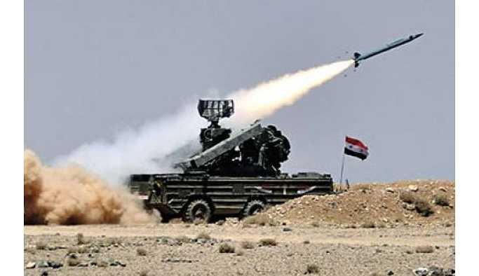 Suriye ordusu'ndan İsrail uçaklarına müdahale