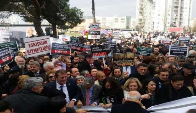 Eskişehir'de termik santral protesto edildi