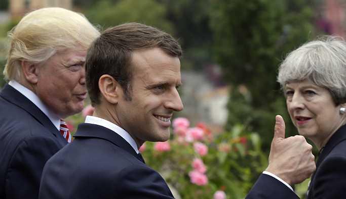 Macron: Suriye'ye saldırılar Rusya ve Türkiye'nin arasını açtı
