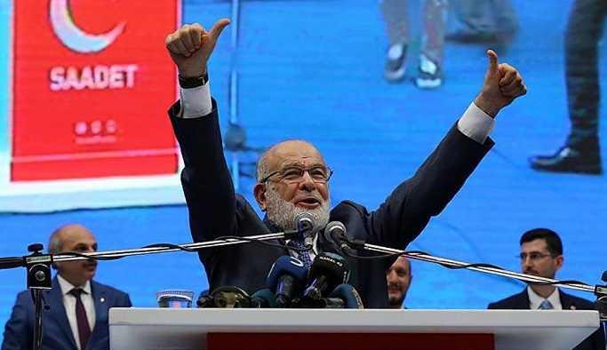 Saadet Partisi 5, Karamollaoğlu 10 puanda'