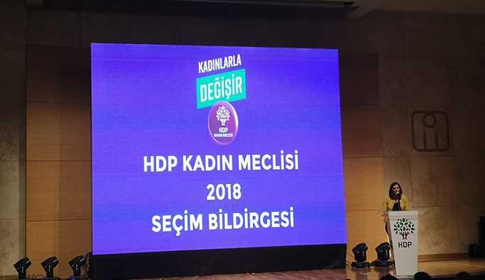 HDP Kadın Meclisi seçim bildirgesini açıkladı: 'Kadınlarla değişir'