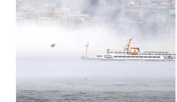 İstanbul'da sis nedeniyle vapur seferleri iptal