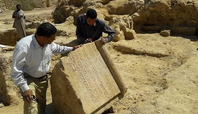 Mısır'da binlerce yıllık Roma tapınağı bulundu