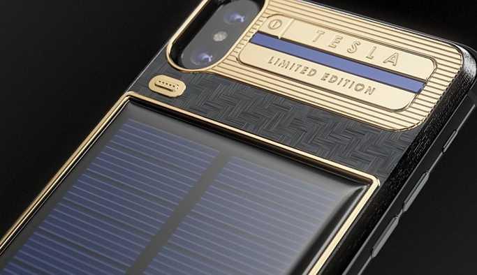 Rus aksesuar üreticisi Caviar, Tesla'dan esinlenerek güneş pilli iPhone tasarladı