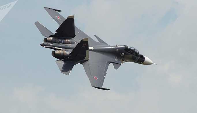 Rus Su-30SM uçağı, Suriye'de düştü