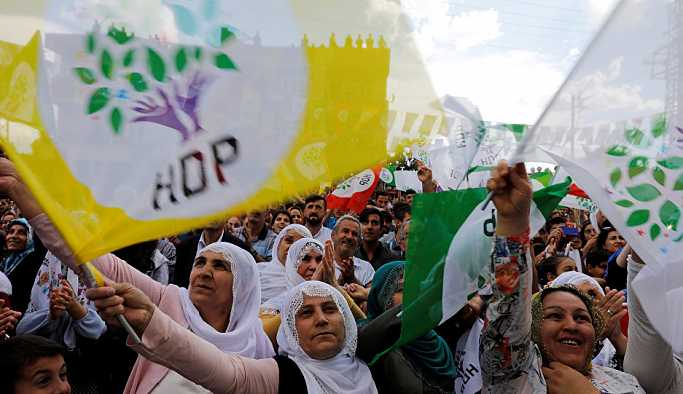 HDP oyları 7 Haziran'a yaklaştı, artış büyük kentler ve sahillerden