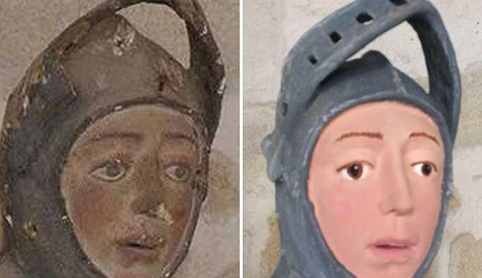 İspanya'da ikinci restorasyon faciası: 'Bu Aziz George mu, Tenten mi?'