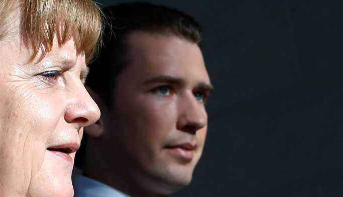 Merkel ve Kurz, 'Avrupa'ya yasadışı göç'ü görüştü