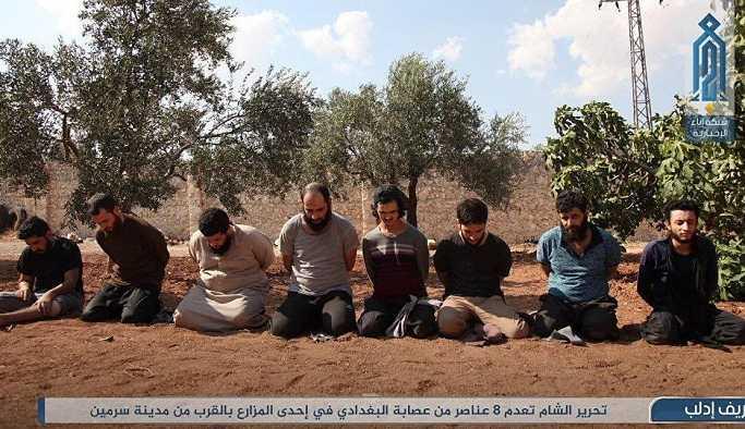 IŞİD militanları kurşuna dizilerek öldürüldü ORTADOĞU