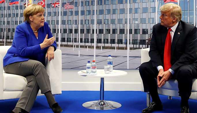 Trump ile Merkel, NATO Zirvesi'nde görüştü: Çok çok iyi bir ilişkimiz var