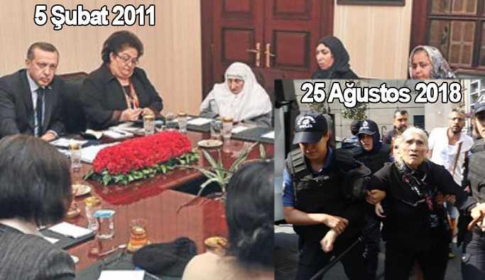 2011'de mazlum olan Cumartesi anneleri, 2018'de terörist mi oldu?