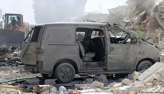 İdlib'deki patlamada çok sayıda sivil öldü
