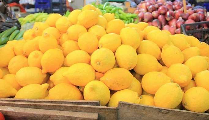 Limonun kilosu tarlada 1, market ve pazar tezgahlarında 10 TL