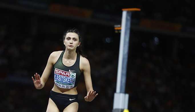 Rus Lasitskene, kadınlar yüksek atlamada Avrupa şampiyonu oldu